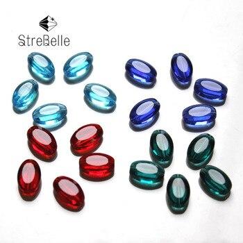 d3329f119e4d 9x6mm nueva llegada de moda plana de color forma oval de cristal facetado  cuentas crear tu