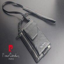 Pierre cardin male casual shoulder bag man cowhide genuine leather strap for LG G3 G4 G5 G6 V10 V20 mobile phone