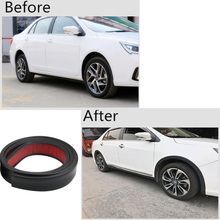 3.8X150CM Universal Car Sticker Mouldings Rubber Auto Wheel Arch Protection Widening Moldings Anti-collision Mudguard