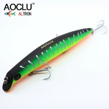 Купить с кэшбэком AOCLU wobblers Super Quality 5 Colors 12cm 13.8g Hard Bait Minnow Crank Fishing lures Bass Fresh Salt water 14# VMC hooks