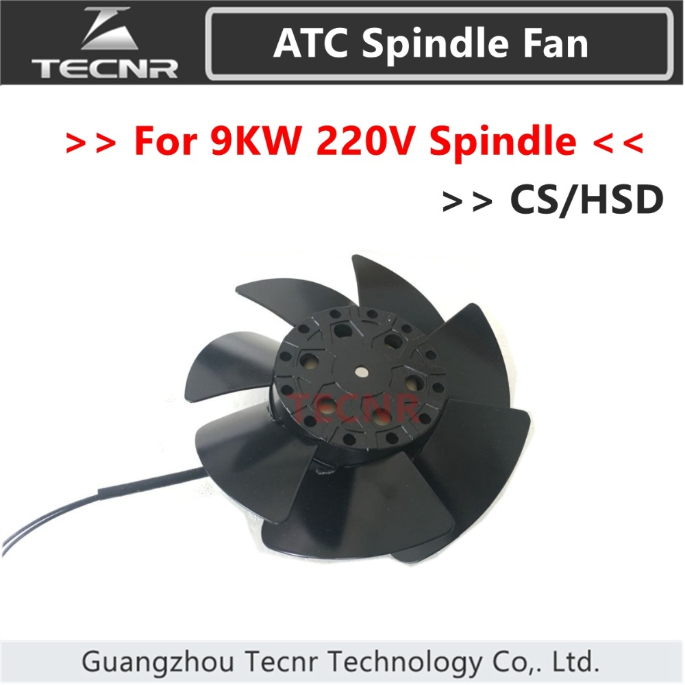 TECNR cnc Automatic Tool Change spindle motor fan 220V replace 9KW HSD CS ATC spindle fan