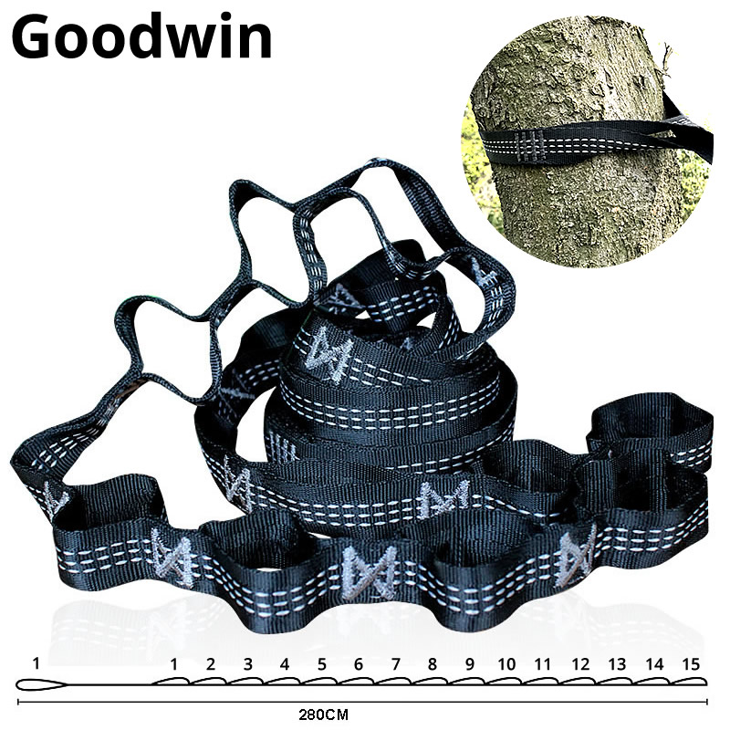 Outdoor Hammock Bandage Strip Buckle With Special Reinforcement Hoop Extension Long Rope Strap Mountaineering Buckle