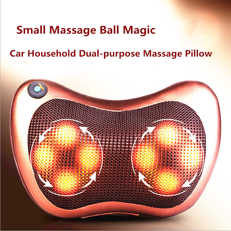 Vibrating Kneading Neck Body Massager Hammer Pillow Infrared Shiatsu Electric Shoulder Back Massage Massages Car/Home цены