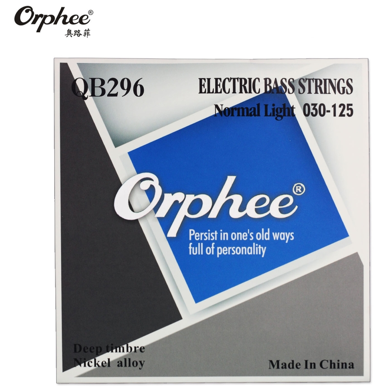 Original Orphee QB296 030-125 Electric Bass Strings 6 Strings bass Nickel Alloy Vigorous Tone guitar Strings 010 046 electric guitar strings nickel alloy orphee rx 17
