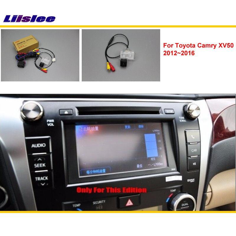 Tylna kamera Liislee z tyłu samochodu dla Toyota Camry XV50 2012 ~ 2016 / HD RCA i oryginalny ekran zgodny