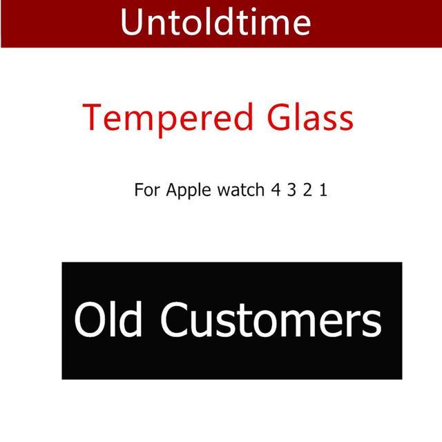Cristal templado completo para Apple Watch 4 44mm 40mm iwatch band 42mm 38mm Protector de pantalla funda de reloj para Apple Watch 3 2 1