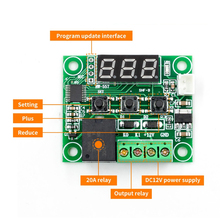 W1209 DC 12 В светодиодный цифровой термостат контроль температуры термометр термо контроллер модуль переключателя+ датчик NTC