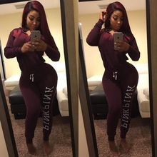 High quality slim temperate fashion full sleeve long rompers 2 piece sweat suit overalls for women