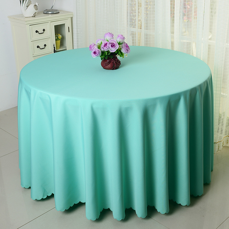 10pcs tiffany blue polyester round table covers wedding table cloths table linens for banquet event hotel - Polyester Tablecloths