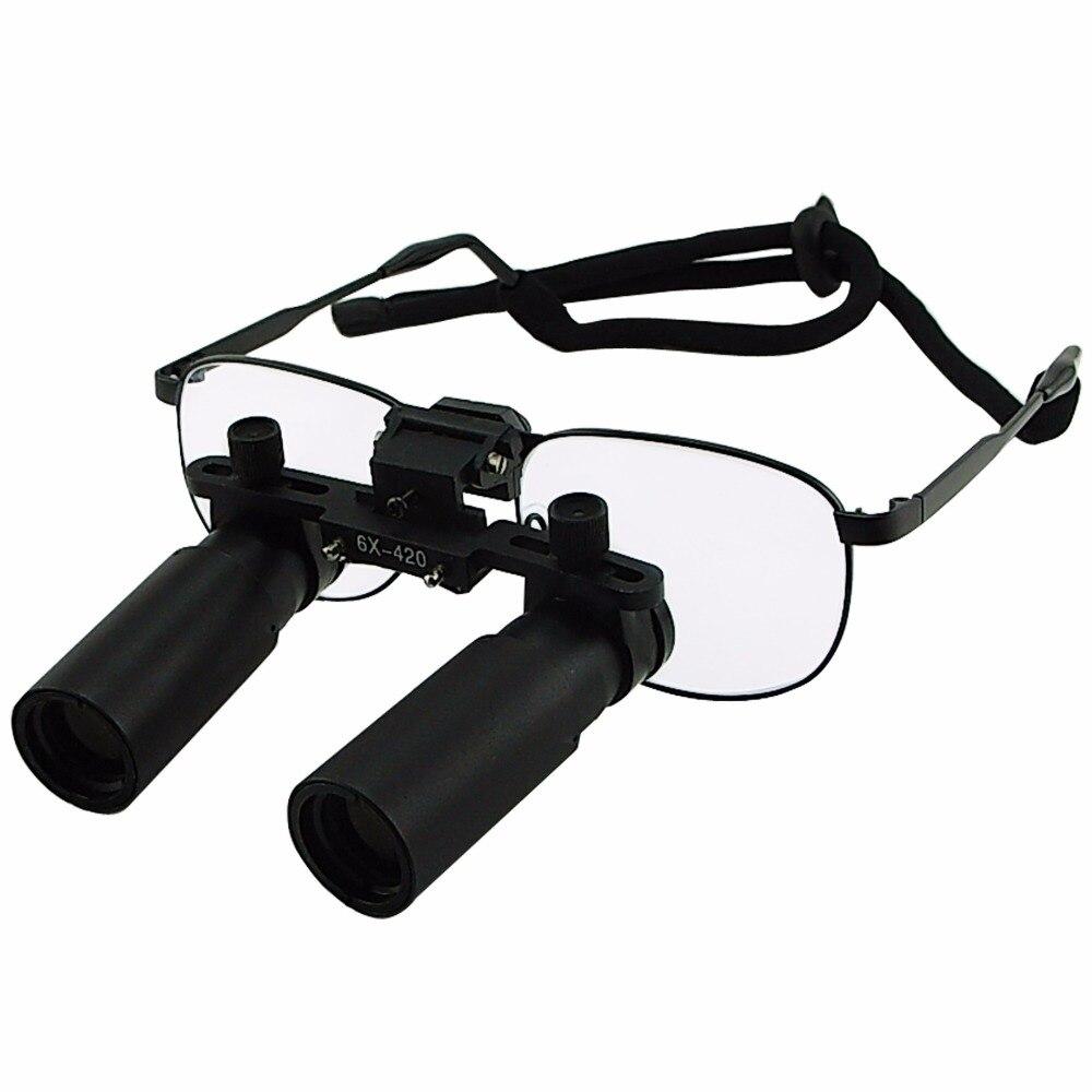 Keplerian Style 6 0x Magnification Binocular Dental Loupes Surgical Medical Dentistry Frame 420mm Working Distance