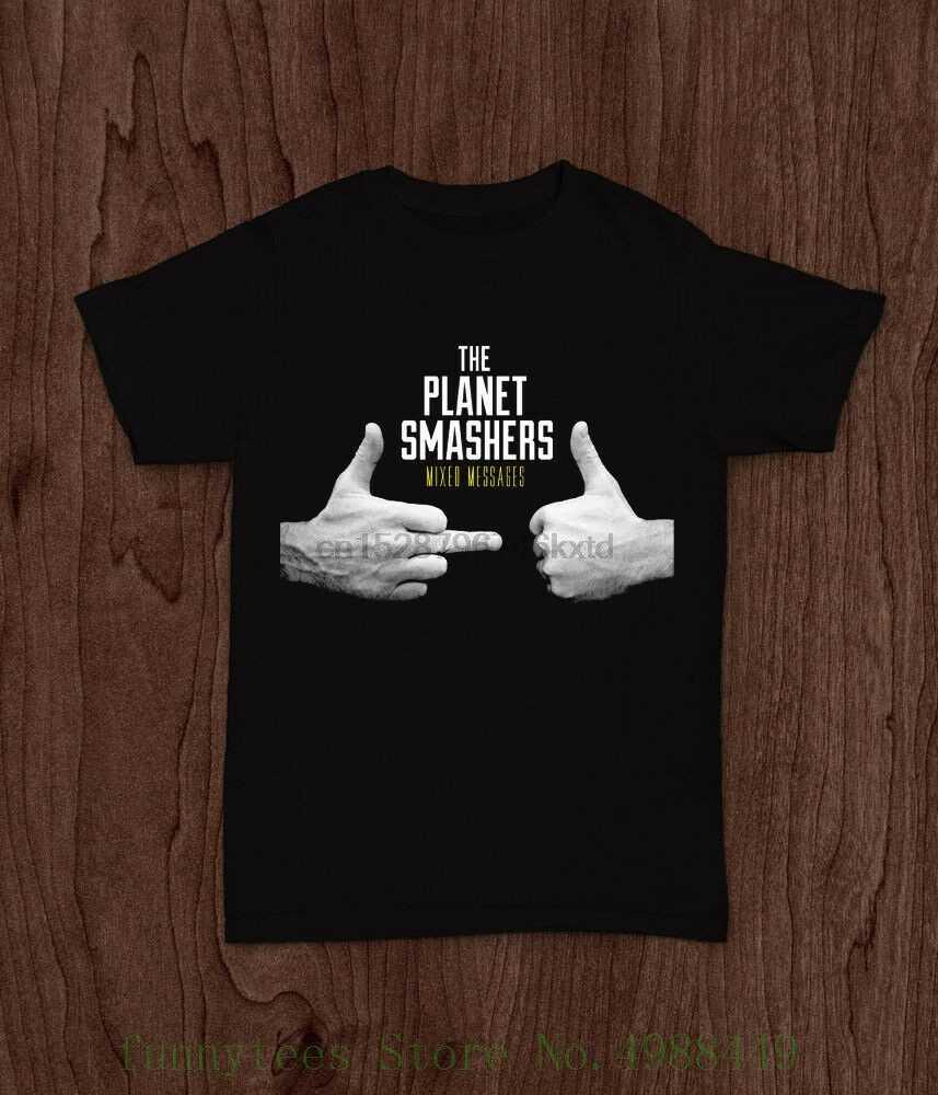 De Planeet Smashers Gemengde Berichten 2 Kanten Ska Punk Band T-shirt SML Xl 2xl Mens Katoenen T shirt