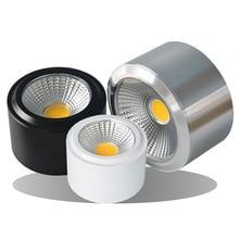 表面実装 LED ダウンライト 5 ワット 7 ワット 9 ワット 12 ワット表面実装 LED ダウンライト 110V 220V スポットライトウォーム/ピュア/クールホワイト