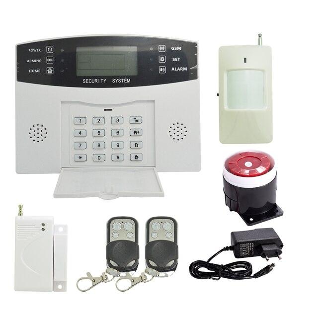 ( 1 set) Home Security Alarm System 433MHz Wireless PIR Motion Sensor Door contact LCD Panel GSM Alarm system Indoor Siren