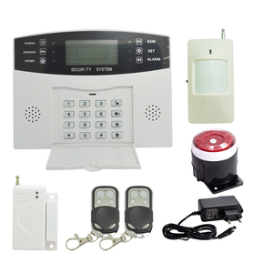 ( 1 set) Home Security Alarm System 433MHz Wireless PIR Motion Sensor Door contact LCD Panel GSM Alarm system Indoor Siren(China)