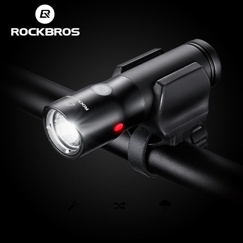 ROCKBROS Cycling Light Power Bank Waterproof USB Rechargeable Bike HeadLight Side Warning Flashlight 700 Lumen 2000mAh 6 Modes цена