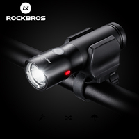 ROCKBROS Bicycle Light Power Bank Waterproof USB Rechargeable Bike Light Side Warning Flashlight 700 Lumen 18650