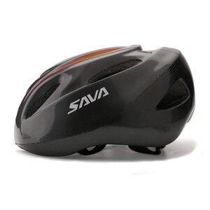 Image 5 - SAVA casque de vélo, pour le cyclisme de nuit, avec clignotant, commande sans fil casque de vélo, charge USB, LED