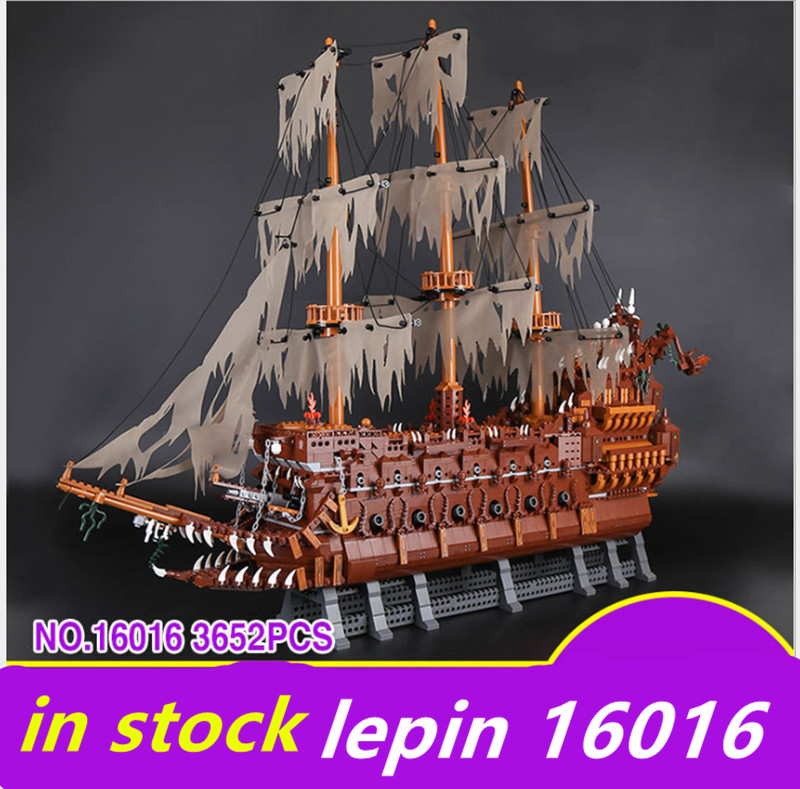 Lepin ship 16016 lepin Movies Series legoing ships pirate Flying the Netherlands ship Pirates of the Caribbean Building Blocks movies of the 2000s bibliotheca universalis