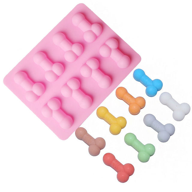 Sexy Penis Cake Mold Dick Ice Cube Tray Silicone Mold Soap Candle Moulds Sugar Craft Tools Bakeware Chocolate Moulds