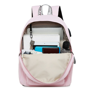 Image 5 - WINNER New Solid Color Printing USB Charging Backpack Women Anti Theft Travel Bagpack Laptop School Backpack For Teenage Girls