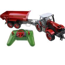 New RC Truck Simulation 6 Ch 4 Wheel Farm Tractor Auto Dumper Electronic Hobby