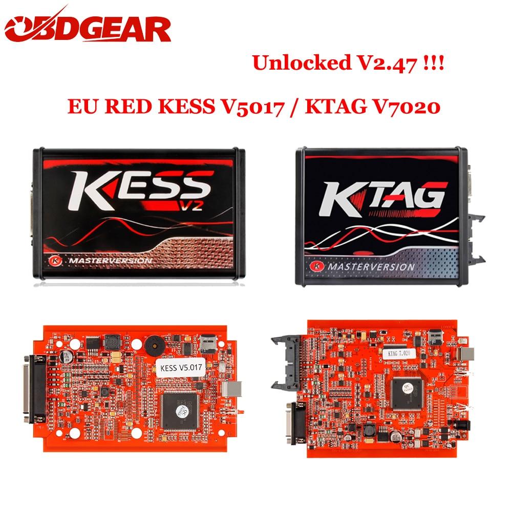 2018 Nouveau Ktag K TAG V7.020 KESS V2 V5.017 SW V2.23 v2.47 2.47 Maître ECU Chip Tuning Outil K-TAG 7.020 en ligne Mieux KTAG V7.003