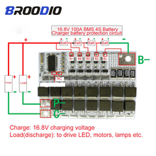 BMS 4S 16.8V 100A 18650 Li-ion Li-POLYMER Lithium POLYMER LiMnO Battery Protection Board 4S BMS Charging Circuit With Balanced цены