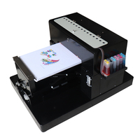 A3 size flatbed printer digital printing machine for Epson R1390 DTG t shirt flatbed printer for light and dark t shirt