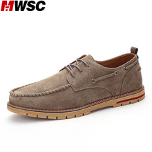 MWSC 2017 New Suede Leather Casual Shoes Male Fashion Style Leisure Black Shoes Zapatos Hombre