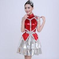 2016 new modern dance costume adult fashion sequins nightclub jazz dance costumes stage women's skirt female costume singer show