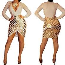 New  Fall Plus size cotton Golden Lattice XXXL curvy women dress bodycon bandage long sleeve v-neck dress women mini party dress