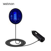 Bluetooth FM Transmitter WeishanWireless In Car Radio Fm Adapter Car Kit With USB Car Charging For
