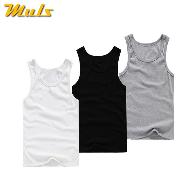 Men/'s White Vests 100/% Cotton Summer Sleeveless Fitted Tank Tops Pack of 3,6,12