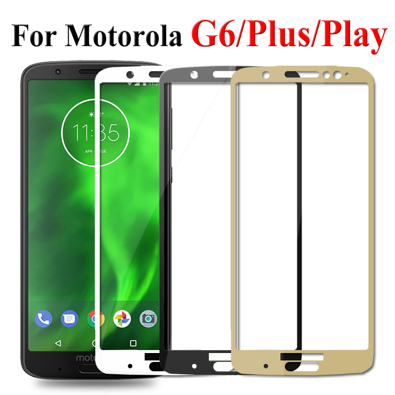 Protective Glass On For Moto G6 Plus Play Safety Tempered
