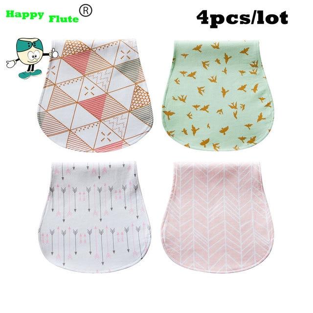 Happy Flute 100 Cotton Baby Bibs Baby Burp Cloths High Quality