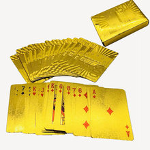 Magic Golden Playing Cards Deck Plastic Gold Foil Poker Magic Card Durable Waterproof Cards Close-up Street Magic Tricks bicycle stargazer deck poker size standard playing cards magic cards magic props close up magic tricks for professional