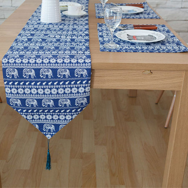 Genial Original Design Southeast Asian Table Runner American Luxury Table Runners  Blue Small Dining Table Runners Flag Bed Tafelloper