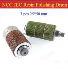 NCCTEC Diamond resin bond polishing drum wheels RPD253 | 3 pcs of 25*50mm polishing resin drum | FREE fast shipping
