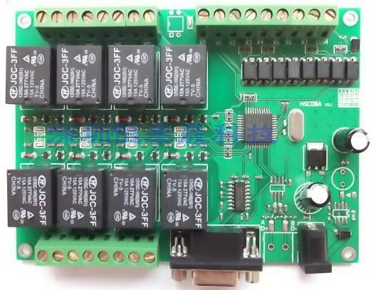 Free Shipping!  1pc  erial IO controller card / Control Module / VB control card / computer serial port control relay board