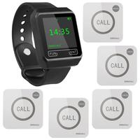 SINGCALL Wireless Service medical call system , wireless pager, 1 Watch Receiver with 5 Touchable Buttons