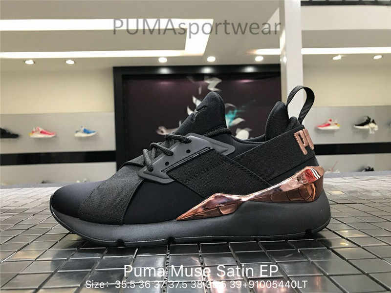 Original Puma Platform Womens Boots Lace Up Trainers Leather Women s  Sneakers Bow Badminton Shoes Size35. 4a39ff064
