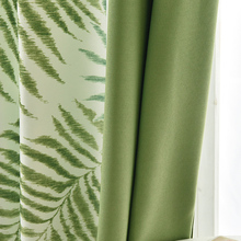 Tropical Leaves Printed Curtains