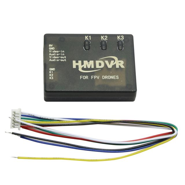 HMDVR 5 V Mini DVR Gravador de AV de Áudio e Vídeo para FPV Multicopter Drones