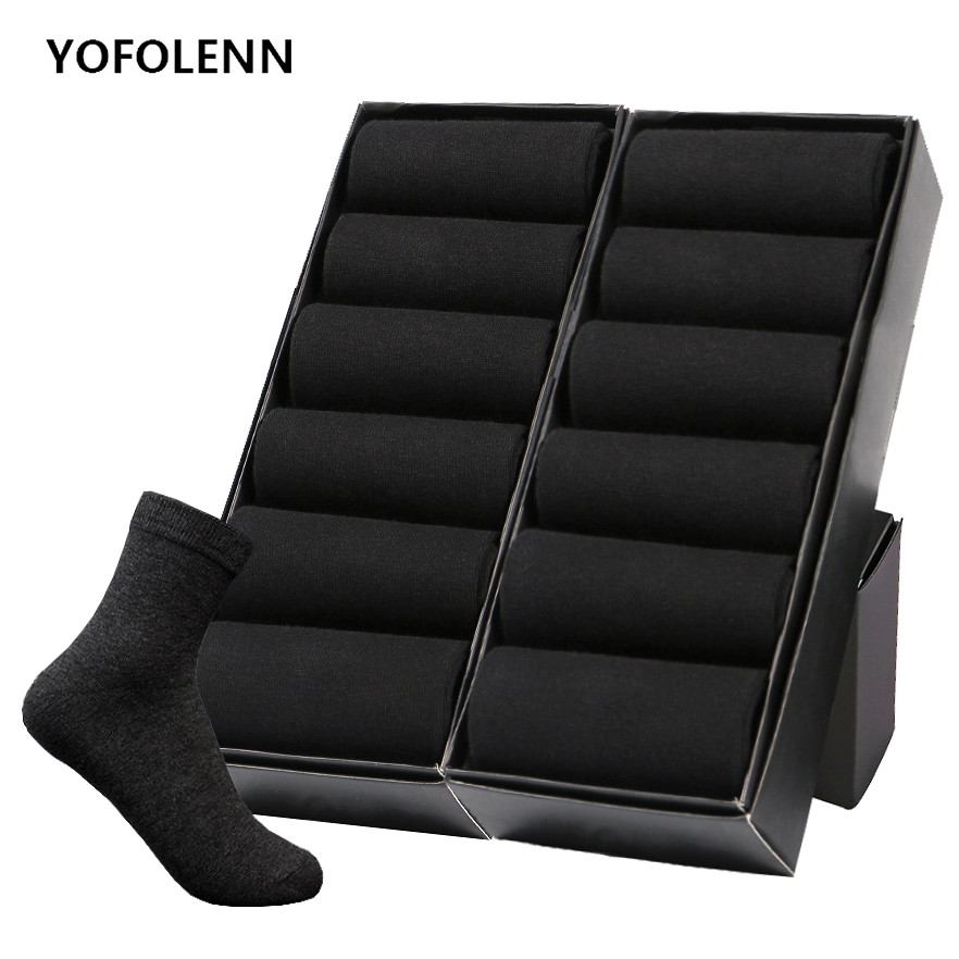 12 Pairs/Lot Plus Size Men's Cotton   Socks   Business Men Deodorant Crew   Socks   Breathable Male Solid Color US size(7-11.5) EU 39-48