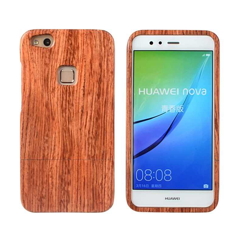 CORNMI Wood Phone Cases For Huawei P10 Lite P10lite P 10 lite Case Back Cover Rosewood Bamboo Shell Fundas Coque Housing Pouch
