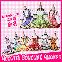 Collection Anime Love Live All Members Bouquet Awaken Matt Satin Chiffon High Quality Made Full Set