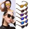 Wooden& AC Classic Vintage Polarized Sunglasses Full Wooden Round Frame Glasses Unisex UV400 Tawny/Green/Purple/Blue/Gray/Orange
