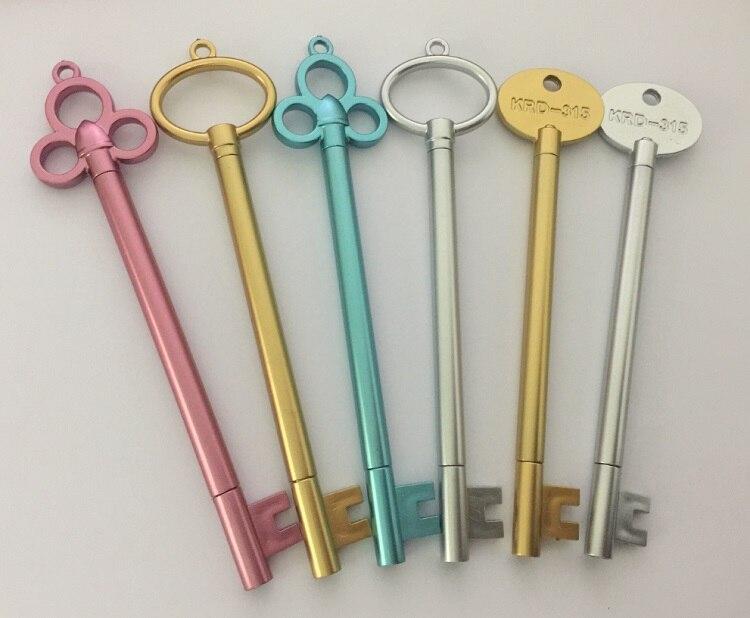 100 pcs lot Wholesales Free Shipping High Quality Gel Pen Cute Key Pen Office School Supplies