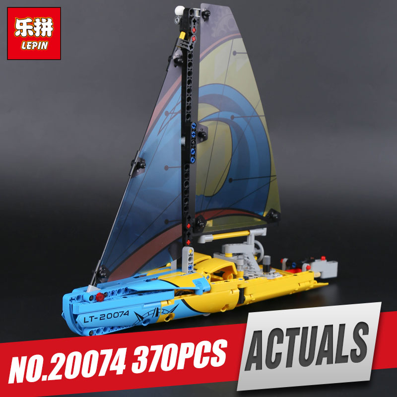 Lepin 20074 Technic Series The Racing Yacht Set legoing 42074 Building Blocks Bricks Educational Toys Model For Kids As Gifts lepin 21010 914pcs technic super racing car series the red truck car styling set educational building blocks bricks toys 75913