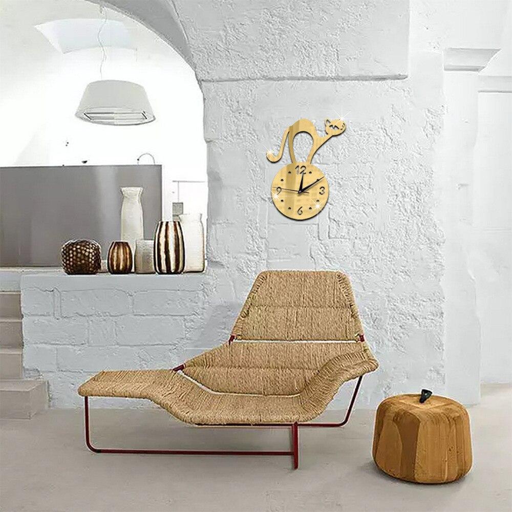 Exquisite Modern DIY Wall Clock 3D Mirror Surface Sticker Home Office Decor Wall Sticker Paintings Wall poster